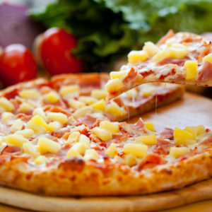 Pineapple, bacon & ham